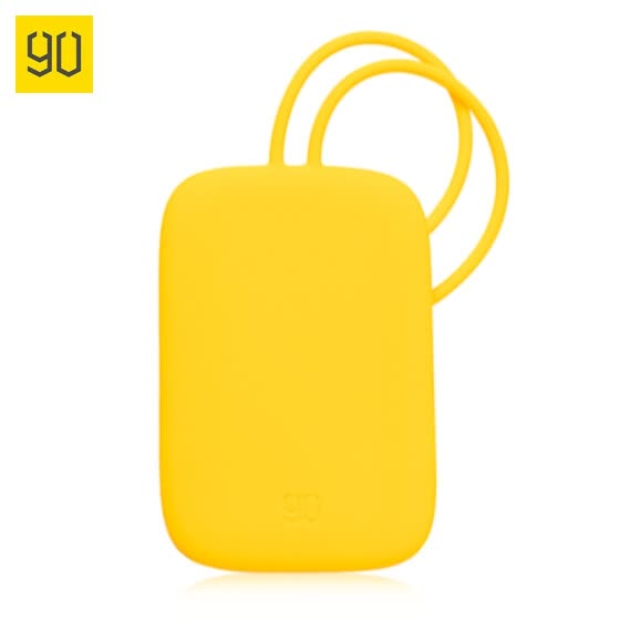Xiaomi MI 90 Fun bright silicone luggage tag boarding pass suitcase check bag trolley case sign in yellow