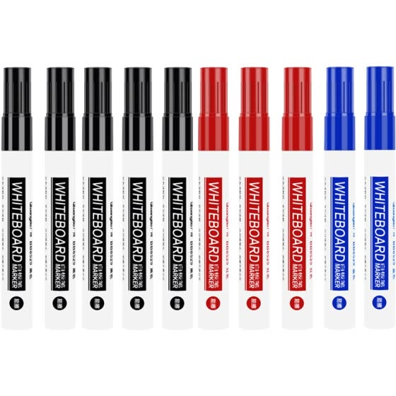 Guangbo (guangbo) office meeting bright color erasable and easy to wipe whiteboard pen (5 black + 2 blue + 3 red) BB8529