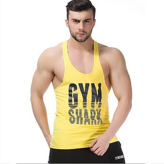 40fbf9fdeb306 Professional Gymshark Men Tank Titan Stringer Tops Bodybuilding Gym Shark  Muscle Fsiculturismo Camiseta Regata Fitness Masculina