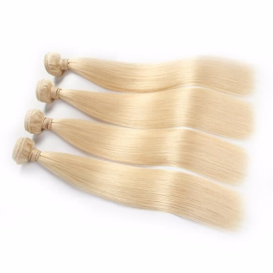 HCDIVA 613 Blonde Virgin Hair Straight 4 Bundles /Lot Light Blonde Brazilian Virgin Hair Straight Human Hair Extensions HCDIVA