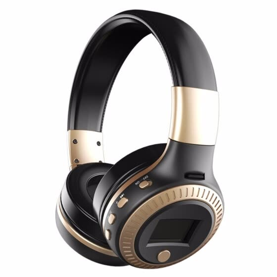 Bluetooth Headphones  Wireless Stereo Earphone Headphone with Mic Headsets Micro-SD Card Slot FM Radio For Phone and PC