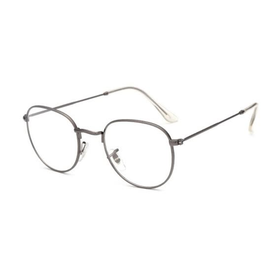 SHAUNA Super Light-weight Vintage Round Frame Original Clear Lens Glasses Retro Circling Frame Women Eyeglasses Men Oculos