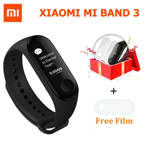 "Original Xiaomi Mi Band 3 Smart Wristband Fitness Bracelet Touch Screen OLED Message 0.78"" 5ATM Water Resistant Phone Calls Remind"