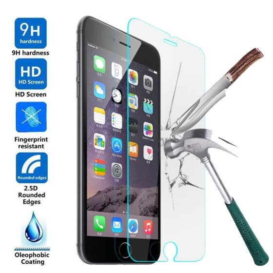 2.5D 9H Clear Tempered Glass Screen Protector For Apple iPhone X 8 7 6 6s Plus Ultra Thin Toughened Guard Film Easy Installation