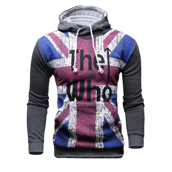 Mooncolour Men's Fashion The Who UK Flag Hooded Sweatshirt Hoodie Outwear