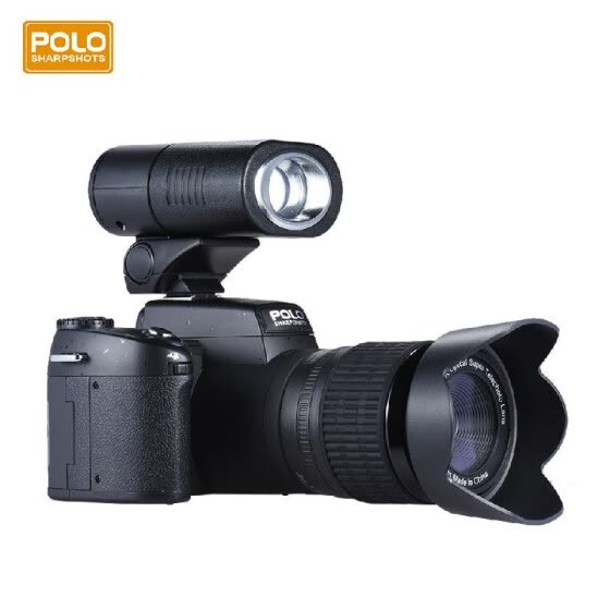 Polo Sharpshots Auto Focus AF 33MP 1080P 30fps FHD 8X Zoomable Digital Camera W/ Standard + 0.5X Wide Angle + 24X Telephoto Long L