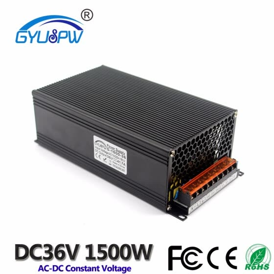Single Output Switching power supply Unit DC 36V 41.7A 1500W Power Adapter ac dc converter 110v 220v AC-DC SMPS For LED CNC CCTV