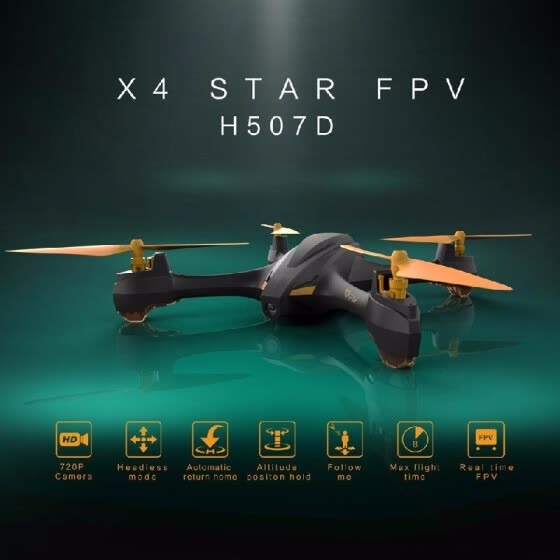 Hubsan H507D X4 STAR 720P Camera 5.8G FPV Drone Altitude Hold Follow Me Mode GPS RC Quadcopter RTF