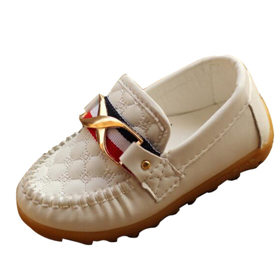 US Kid Boys Girls Toddler Slip On Soft Loafers Oxford Flats Casual PU Boat Shoes