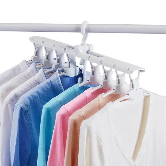 Visitor FK multi-function hanger storage artifact folding multi-layer vibrato magic drying racks dormitory hangers home clothes support