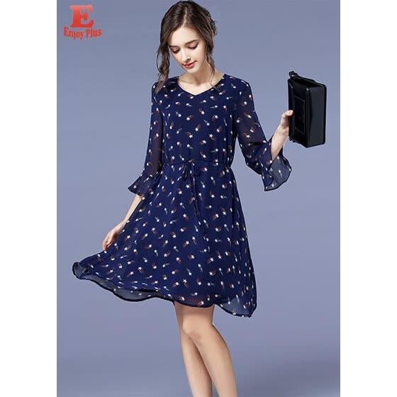 Shop L XL XXL 3XL 4XL 5XL plus size elegant new summer autumn 2018 ...