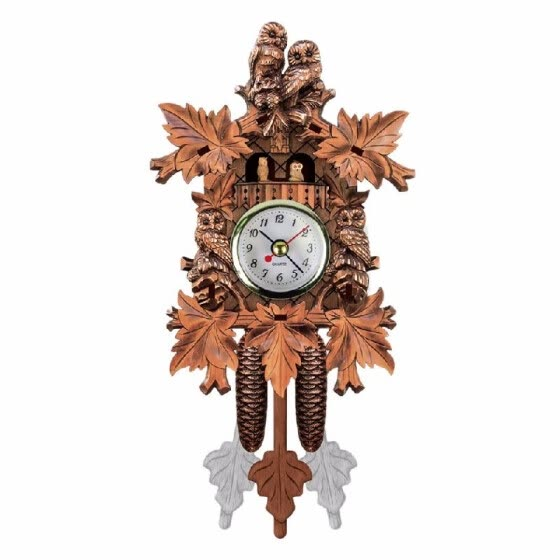 Cuckoo Wall Clock Bird Wood Hanging Decorations for Home Cafe Restaurant Art Vintage Chic Swing Living Room Style 4