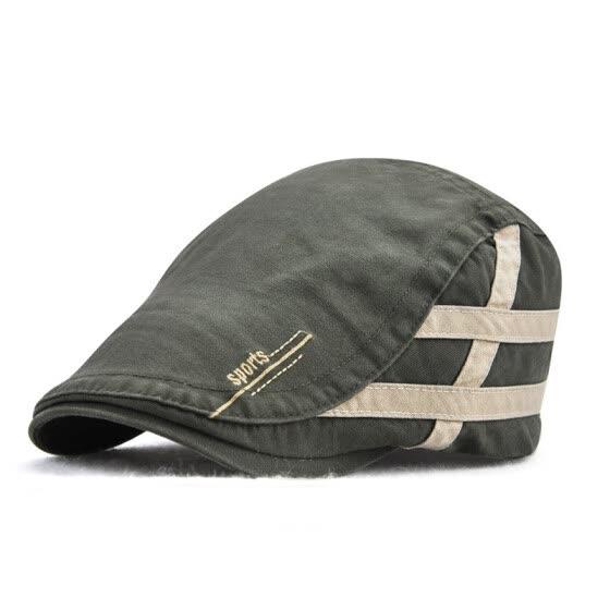 457c4515ee4 Jamont Summer Cotton Striped Newsboy Hat British Gentleman Duckbill Visor  Golf Peaked Caps Casual Boina Cap