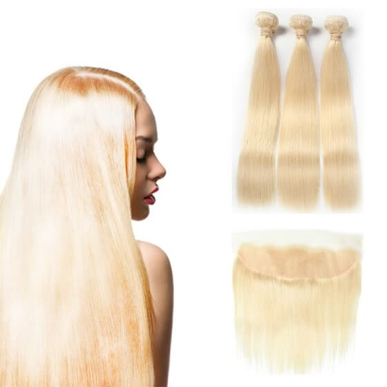 Shop Hcdiva Peruvian Straight Hair Bundle With Frontal Lace Closure 4pcs Lot 613 Blond Extensions Remy Human Hair 10 30 Inch Online From Best Bundles With Closure On Jd Com Global Site Joybuy Com