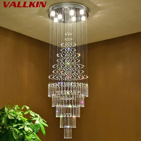 Stair Crystal Chandeliers Lights
