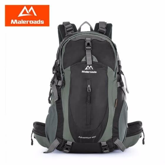 Maleroads 40L Outdoor Sports Backpack Hiking Camping Water Resistant Nylon  Travel Luggage Bike Rucksack Bag 8bec7d45fc774