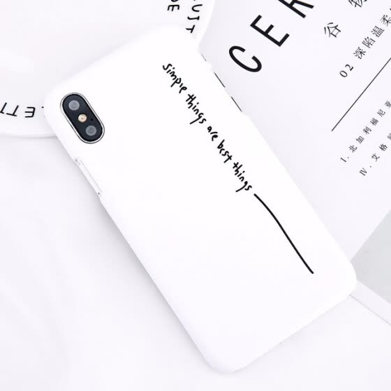 Simple Letter Phone Case Candy Lucky 7 Back Cover Matte Hard PC Cases For iPhoneX 8 7 6 6s Plus