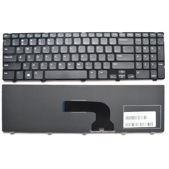 NEW US keyboard for DELL Inspiron 15 3521 15R 5521 black English laptop keyboard with frame
