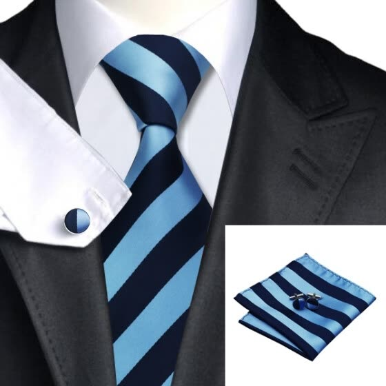 Hot selling Vogue Men Silk Tie Set High Quality 100% Silk Necktie Handkerchief Cufflinks Set for Formal Wedding Business