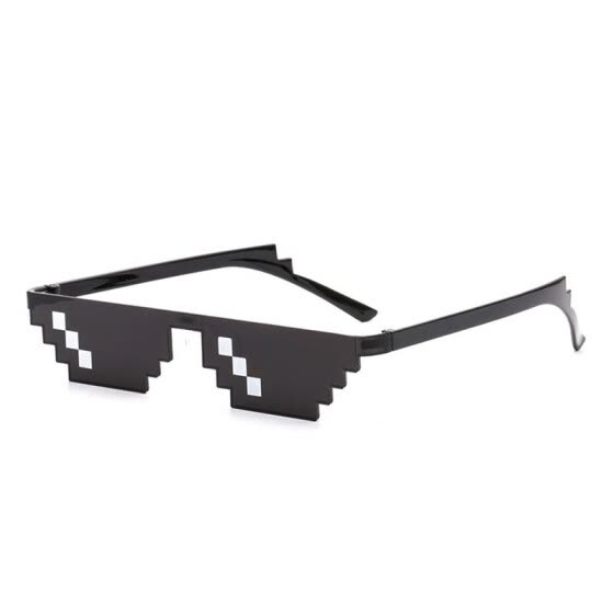 9afc9bb99317 SHAUNA Wide Deal With It Sunglasses Funny Mosaic Thug Life Sun Glasses 8  Bit Pixel Sunglasses