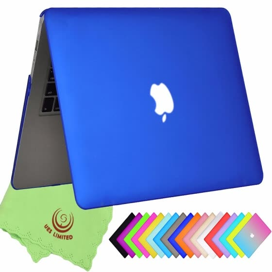 "UESWILL Smooth Soft-Touch Matte Frosted Hard Shell Case Cover for MacBook Air 11"" (Model: A1370/A1465)- Royal Blue"