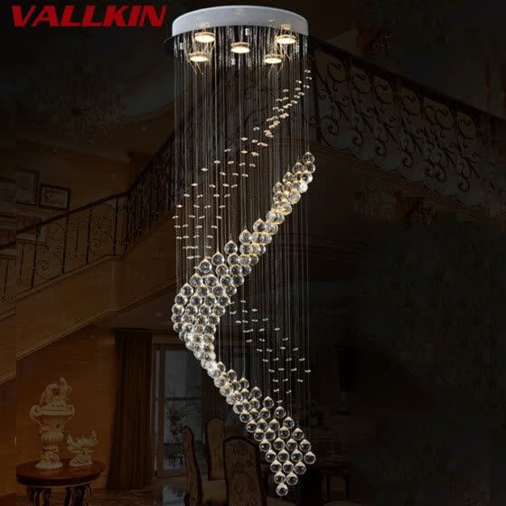 Shop Modern Led Spiral Crystal Chandelier Lighting For Foyer Stair Staircase Bedroom Hotel Hall Ceiling Hanging Suspension Lamp Online From Best Ceiling Lights On Jd Com Global Site Joybuy Com,Blue Wall Living Room Ideas