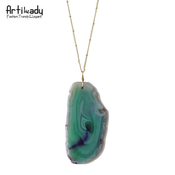 Natural Agate necklace fashion pendant women necklace jewelry