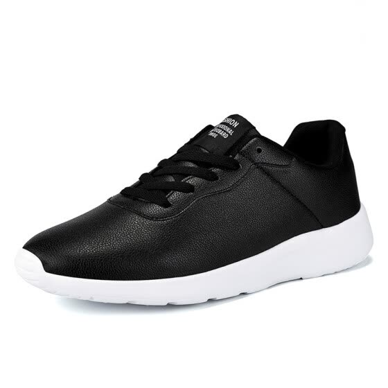 Mens Casual Shoes Summer New Black Color Flats Shoes Breathable Lightweight Leisure Shoes Plus Size