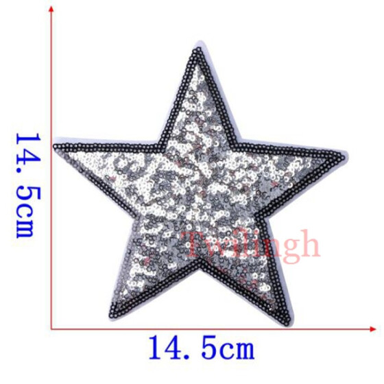 Durable 12pcs 3D Star Applique Embroidery Patch Sticker Iron On Sew Patches-Best