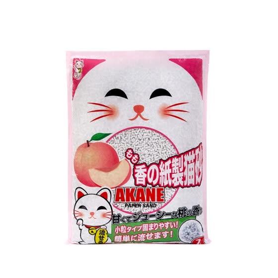 Shop AKANE peach paper cat litter environmentally friendly