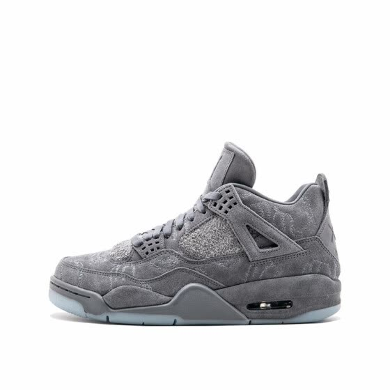 Nike KAWS x Air Jordan 4 Cool Grey Breathable Men's Basketball Shoes Sports Sneakers Outdoor