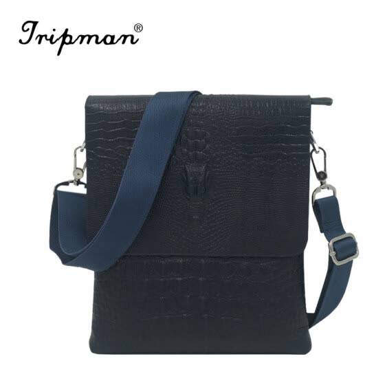 New Arrival Hot Sale Leisure Man Bag Black Crocodile Pattern Crossbody Real Cowhide 100% Full Genuine Leather Men Messenger Bags Sales