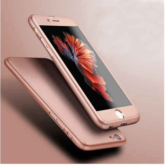 d3ae5b8c656 360° Full Body Protection Hard Case Cover with Tempered Glass For Apple iPhone  6 6S