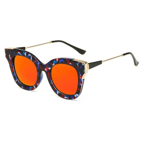 ff5f42f6a4 SHAUNA Popular Estilos de Verano Mujeres Gafas de Sol de Ojo de Gato  Diseñador de la