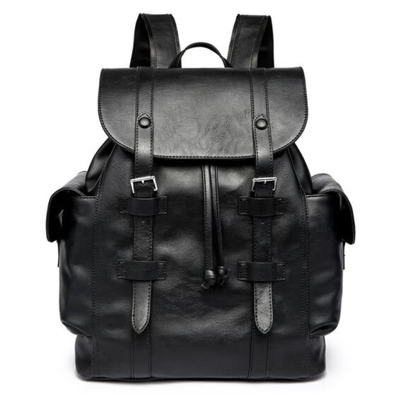 Luggage hot double-shoulder laptop bag male fashion business travel women's casual student bags backpack PU leather schoolbag