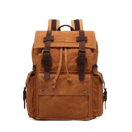 d06b696d99df Vintage Canvas Backpack Men Large Capacity waterproof Travel Shoulder Bag  Fashion Male Luxury Brand Men Laptop