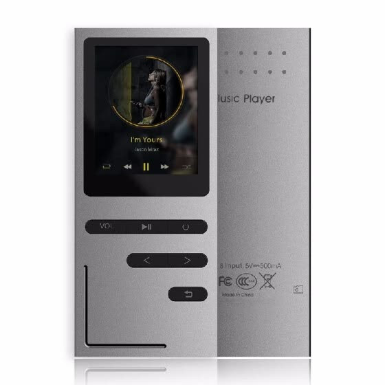 C18 8GB MP3 Player HiFi Metal Music Player Loseless APE FLAC Audio Player with  Built-in Speaker