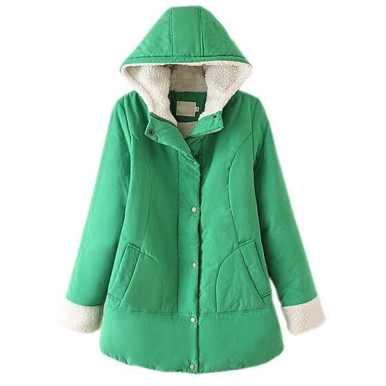 Mooncolour Women Faux Fur Hooded Thick Cardigan Coat