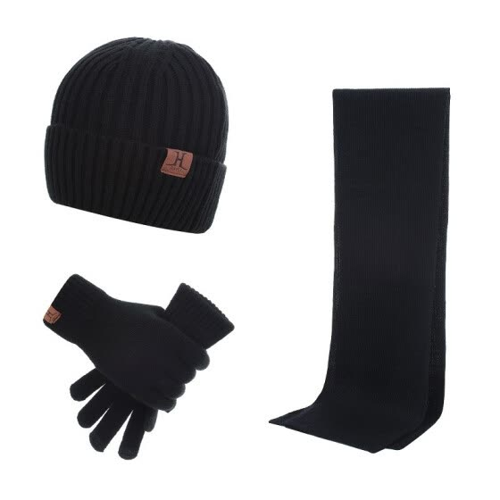 704f398cd Shop Fashion Winter Hats Scarf Gloves For Women Men Thick Cotton ...