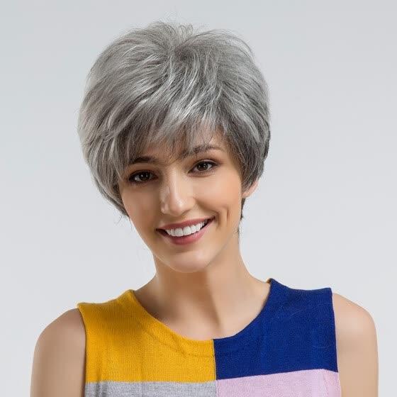 Cool Shop Blonde Unicorn Fluffy Pixie Cut Short Hair Wigs Gray Black Schematic Wiring Diagrams Phreekkolirunnerswayorg
