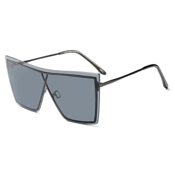 e84c6f5116 SHAUNA Oversize Square Women Rimless Sunglasses Fashion Men Yellow Tinted  Lens Glasses UV400