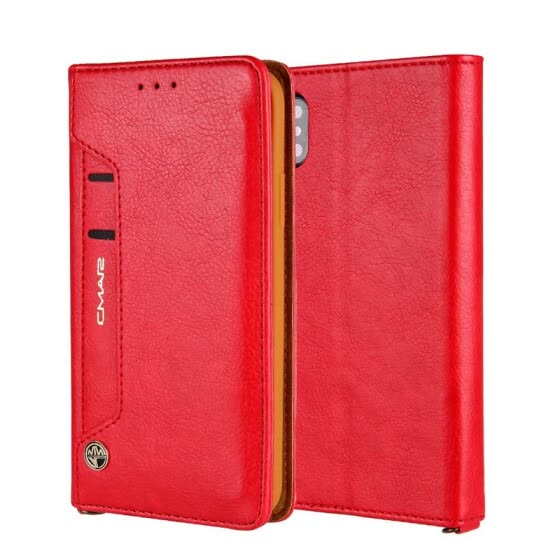 Colorful Sided Card Holder Magnetic Flip Stand Leather Wallet Case for iPhoneX 8 7 6S Plus for iphone7plus  X