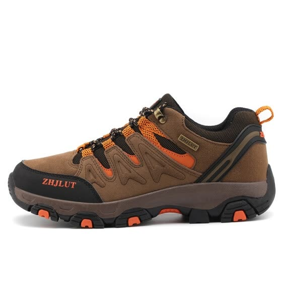 Autumn men's shoes wear-resistant non-slip outdoor hiking shoes men's leather waterproof sports leisure shoes
