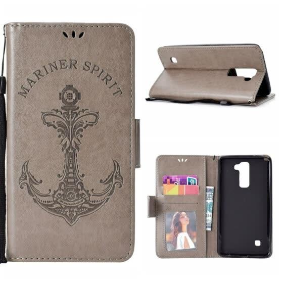 buy popular 54250 676cd Shop MOONCASE Huawei P20 Pro Embossed Mermaid Anchor Leather Case ...