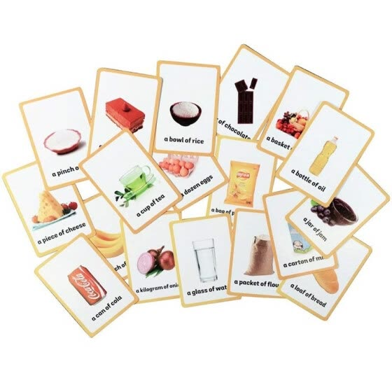 33 pc-Food Flash Cards-English word learning card&pocket size flash card for Preschool children-English Vocabulary Cards