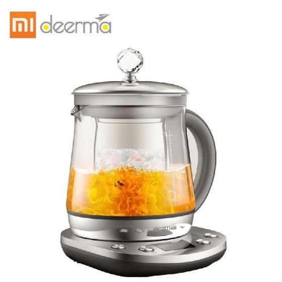Xiaomi Deerma Electric Stainless Steel Kettle Health Automatic Tea Pot Multi Cooker 1000W Steamer Water Bottle Adjustable Firepowe