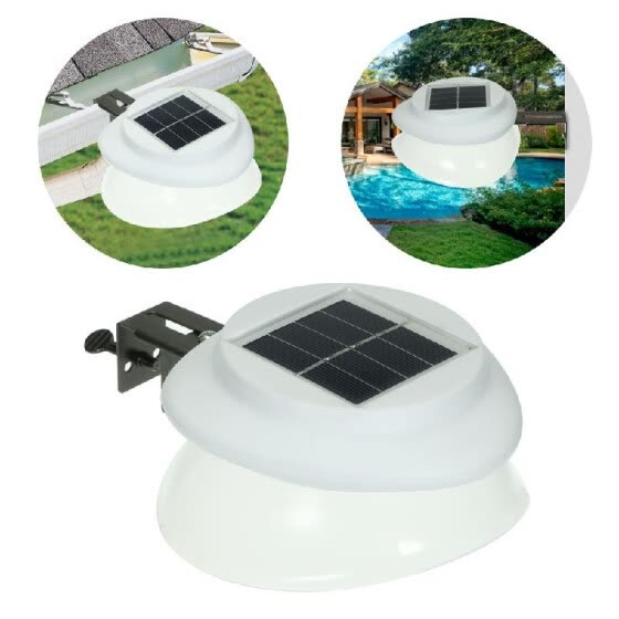 Shop Solar Power Fence Lamp UFO Shape 9 LED Gutter Lighting Solar