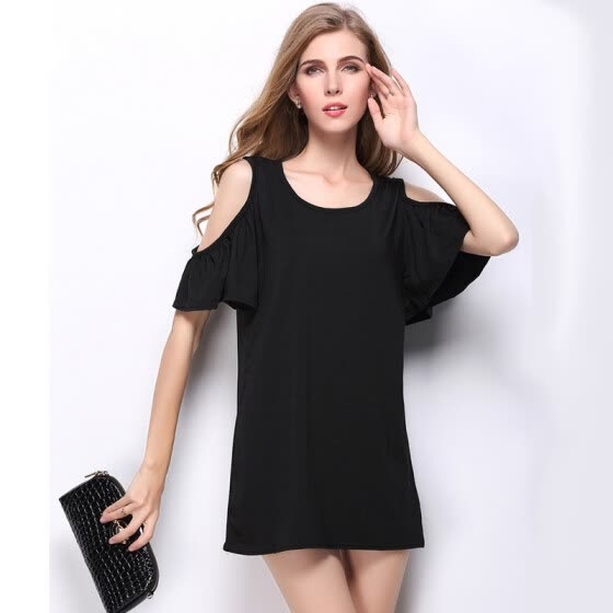Buenos Ninos Women Dresses Ladies Short Sleeve Cotton Sexy Dress Woman Casual Jersey O-neck Vestidos