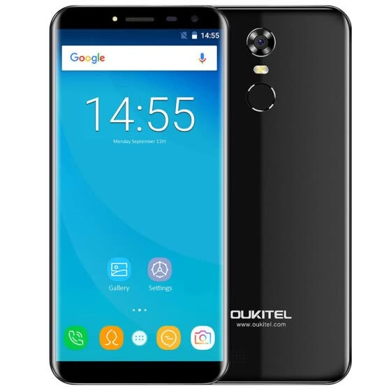 OUKITEL C8 3G Phablet 5.5 inch 2.5D Arc Screen Android 7.0 MTK6580A 1.3GHz Quad Core 2GB RAM 16GB ROM Fingerprint Scanner 8.0MP Re
