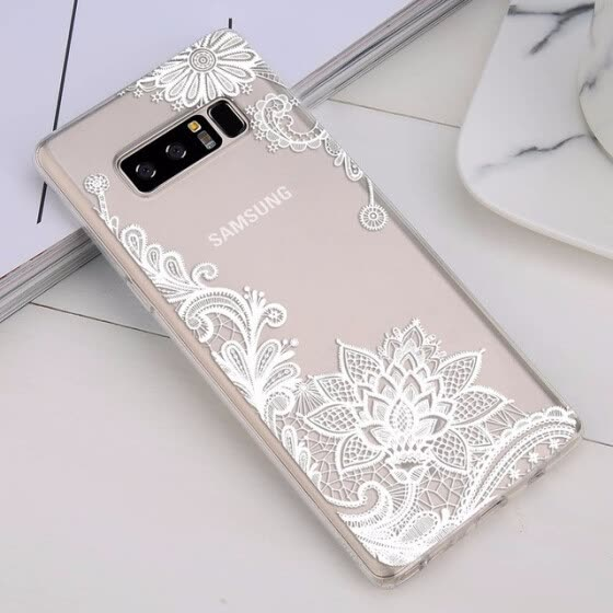 Phone Case For Samsung Galaxy Note 8 S8 S9 Plus S7 S7 Edge Retro Sexy Lace